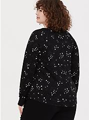 Black & White Celestial Crew Active Sweatshirt, MULTI, alternate