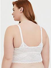 White Lace Bralette, CLOUD DANCER, alternate