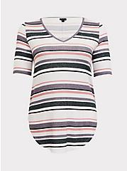 Multi Stripe Hacci Favorite Tunic Tee, STRIPE - PURPLE, hi-res