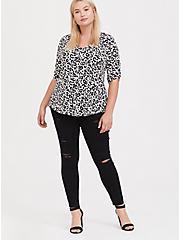 Harper - Leopard Print Studio Knit Blouse, , alternate