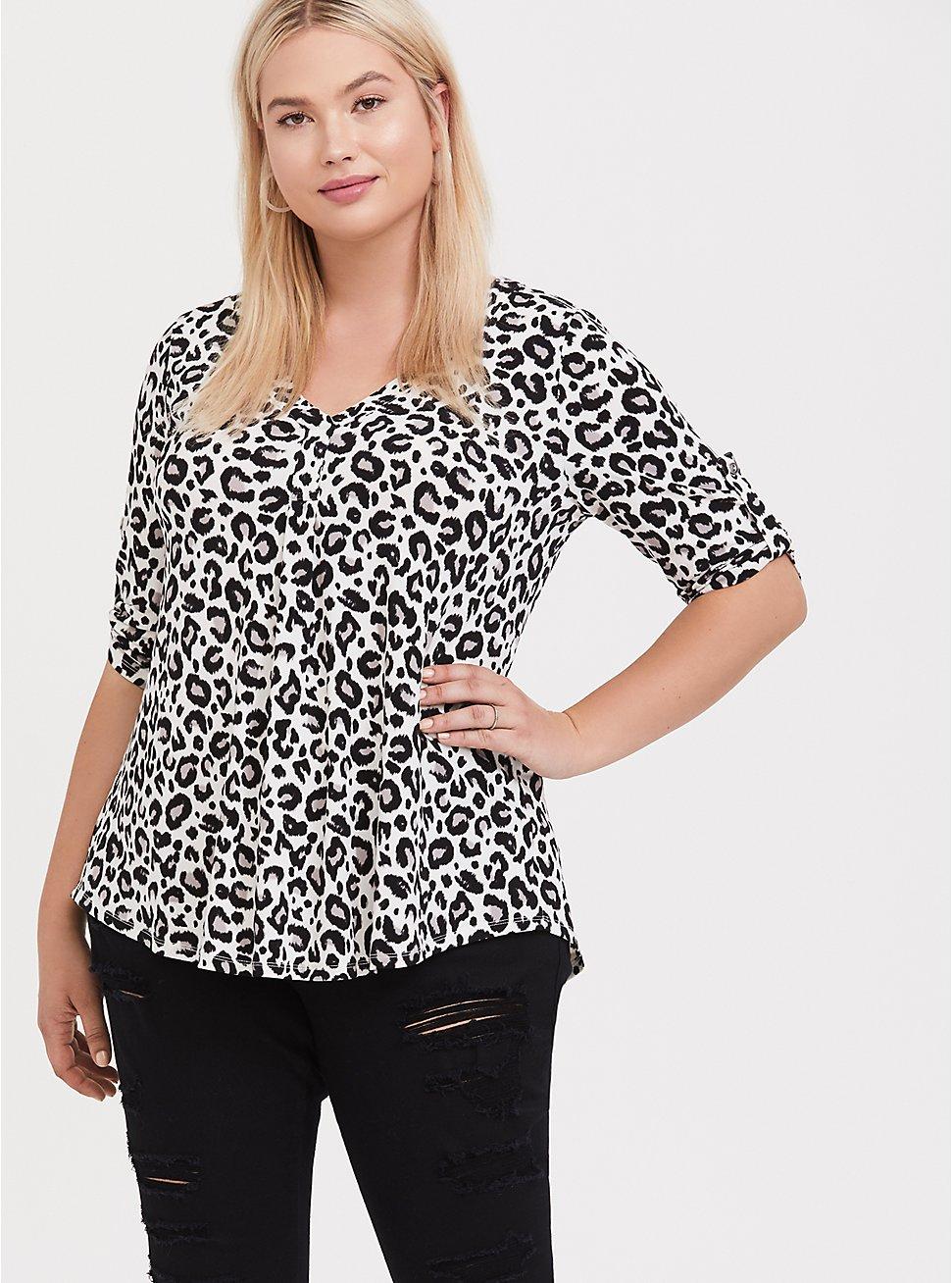 Harper - Leopard Print Studio Knit Blouse, , hi-res
