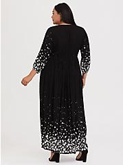Black Swiss Dot Star Maxi Dress, STARS-BLACK, alternate