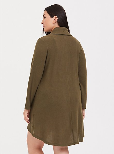 Olive Green Shawl Collar Sleep Cardigan, OLIVE, alternate