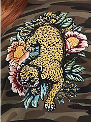 Camo Embroidered Leopard Sweatshirt, MULTI, alternate