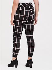 Studio Ponte Slim Fix Pixie Pant - Black Plaid , PLAID, alternate