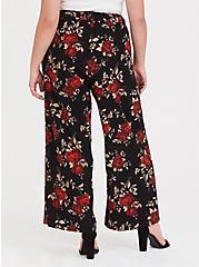 Black & Red Floral Wide Leg Pant, ROSE PRINT, alternate