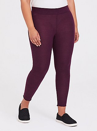 Platinum Legging - Super Soft Plush Burgundy Purple , PURPLE, hi-res