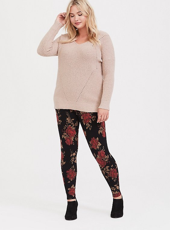 Black Rose Legging, , hi-res