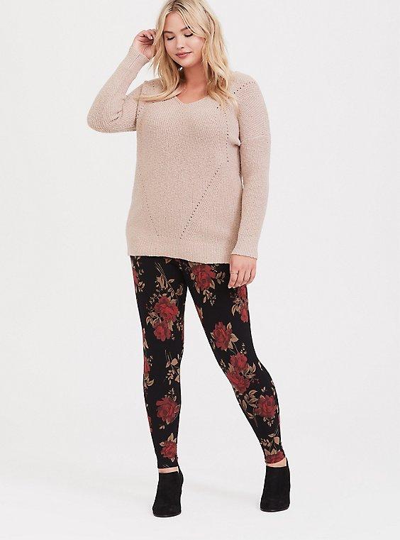 Premium Legging - Rose Black, , hi-res
