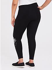 Premium Legging - Henna White & Black, BLACK, alternate