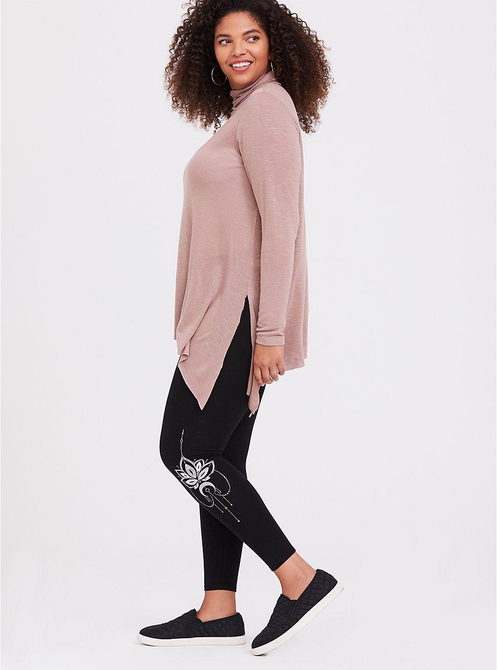 Premium Legging - Henna White & Black, BLACK, hi-res