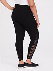 Premium Legging - Ladder Lace Insert Black, BLACK, alternate