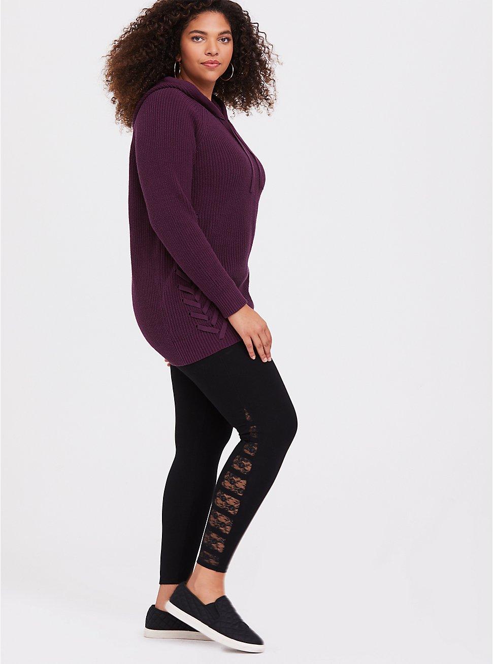 Premium Legging - Ladder Lace Insert Black, BLACK, hi-res
