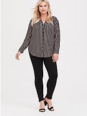 Harper - Black & Multi Stripe Challis Tunic, MULTI, alternate