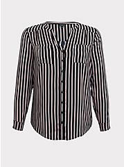 Harper - Black & Multi Stripe Challis Tunic, MULTI, hi-res