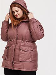 Walnut Hooded Cargo Coat, WALNUT, alternate