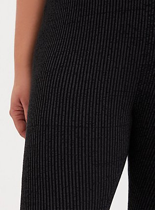 Plus Size Sweater-Knit Legging -  Space-Dye Grey, GREY, alternate