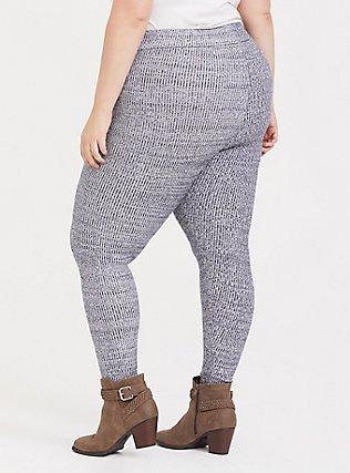 Sweater-Knit Legging - Space-Dye Navy , PEACOAT, alternate