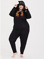 Harry Potter Scarf Black Fleece Onesie, DEEP BLACK, hi-res