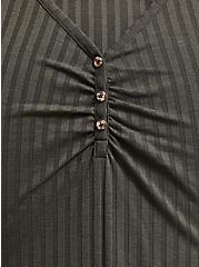 Olive Green Rib Henley Bodysuit, DEEP DEPTHS, alternate