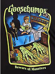 Goosebumps Beware Of Monsters Black Slim Fit Crew Tee, DEEP BLACK, alternate