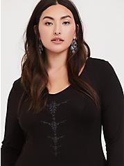 Her Universe Disney Maleficent 2 Black Jersey Hi-Lo Dress, DEEP BLACK, alternate