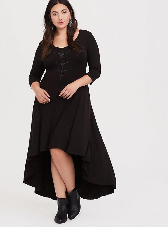 Her Universe Disney Maleficent 2 Black Jersey Hi-Lo Dress, , hi-res
