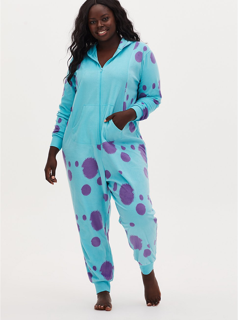 Disney Pixar Monsters, Inc. Sulley Aqua Fleece Onesie, MULTI, hi-res