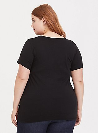Plus Size The Office That's What She Said Black Slim Fit Crew Tee, DEEP BLACK, alternate