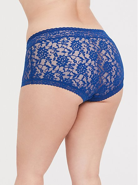 Sapphire Blue Lacey Brief Panty, LIMOGES BLUE, alternate