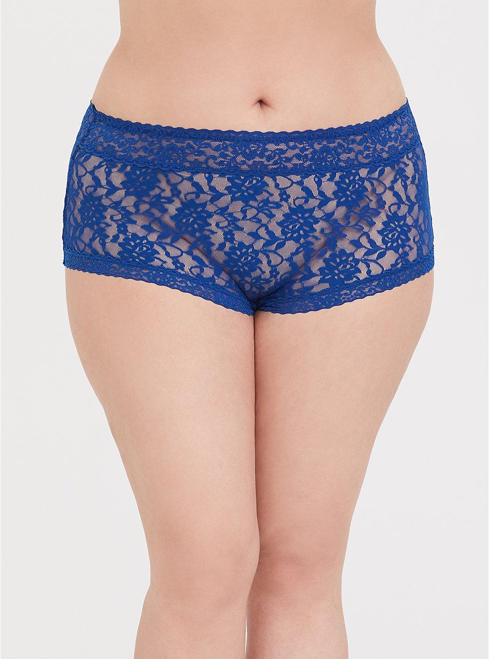 Sapphire Blue Lacey Brief Panty, LIMOGES BLUE, hi-res
