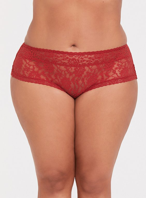 Rust Orange Wide Lace Cheeky Panty, , hi-res
