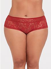 Rust Orange Lacey Cheeky Panty, BOSSANOVA-RUST, hi-res