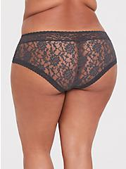 Dark Grey Lacey Cheeky Panty, MAGNET, alternate