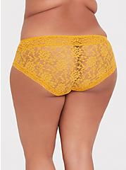 Mustard Yellow Lacey Hipster Panty, MINERAL YELLOW, alternate
