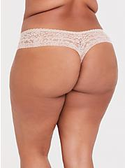 Beige Lacey Thong Panty, ROSE DUST, alternate