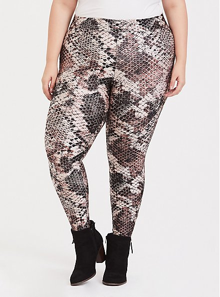 Platinum Legging - Liquid Snakeskin Print, MULTI, alternate