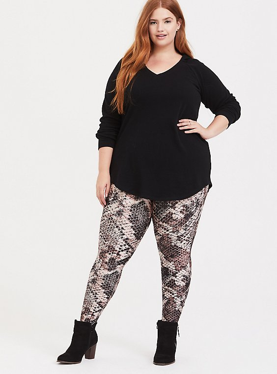 Plus Size Platinum Legging - Liquid Snakeskin Print, , hi-res