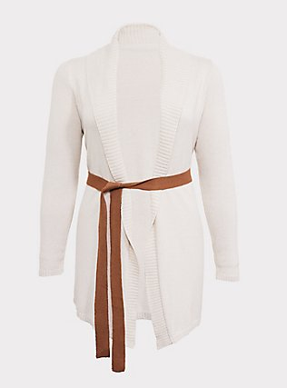 Her Universe Star Wars Episode 9 Rey Ivory Self-Tie Cardigan, SANDSHELL, flat