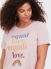 Equal Love Equals Love Dusty Pink Crew Neck Tee, MUSHROOM, alternate