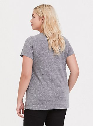 Real Queens Grey Slim Fit Crew Tee, MEDIUM HEATHER GREY, alternate
