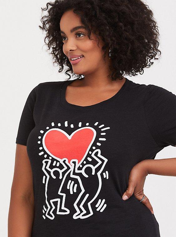 Keith Haring Black Slub Crew Tee, , hi-res