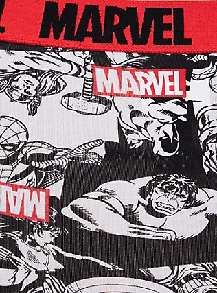 Plus Size Marvel The Avengers Red Cotton Boyshort Panty, MULTI, alternate