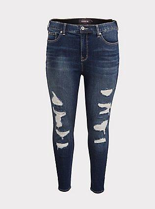 Sky High Skinny Jean - Premium Stretch Medium Wash, EMERSON, flat