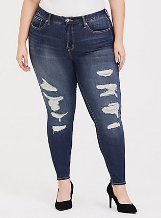 Plus Size Sky High Skinny Jean - Premium Stretch Medium Wash, EMERSON, hi-res