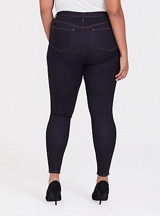 Plus Size Sky High Skinny Jean - Super Soft Dark Wash, OZONE, alternate