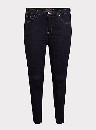 Plus Size Sky High Skinny Jean - Super Soft Dark Wash, OZONE, flat