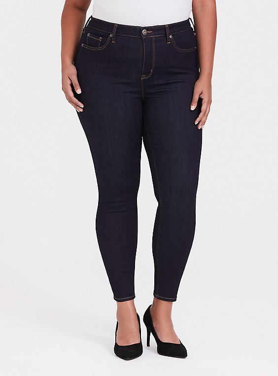 Plus Size Sky High Skinny Jean - Super Soft Dark Wash, , hi-res