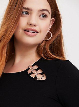 Super Soft Black O-Ring Long Sleeve Tee, DEEP BLACK, hi-res
