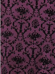 Studio Ponte Slim Fix Pixie Pant - Burgundy Purple & Black Flocked Print, HIGHLAND THISTLE, alternate